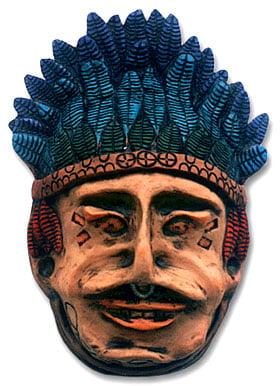 Máscara decorativa - Índio