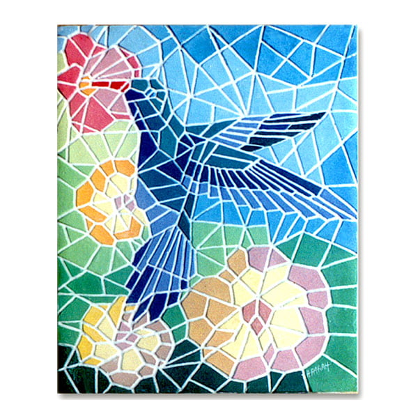 Mosaico Beija-flor - quadro decorativo