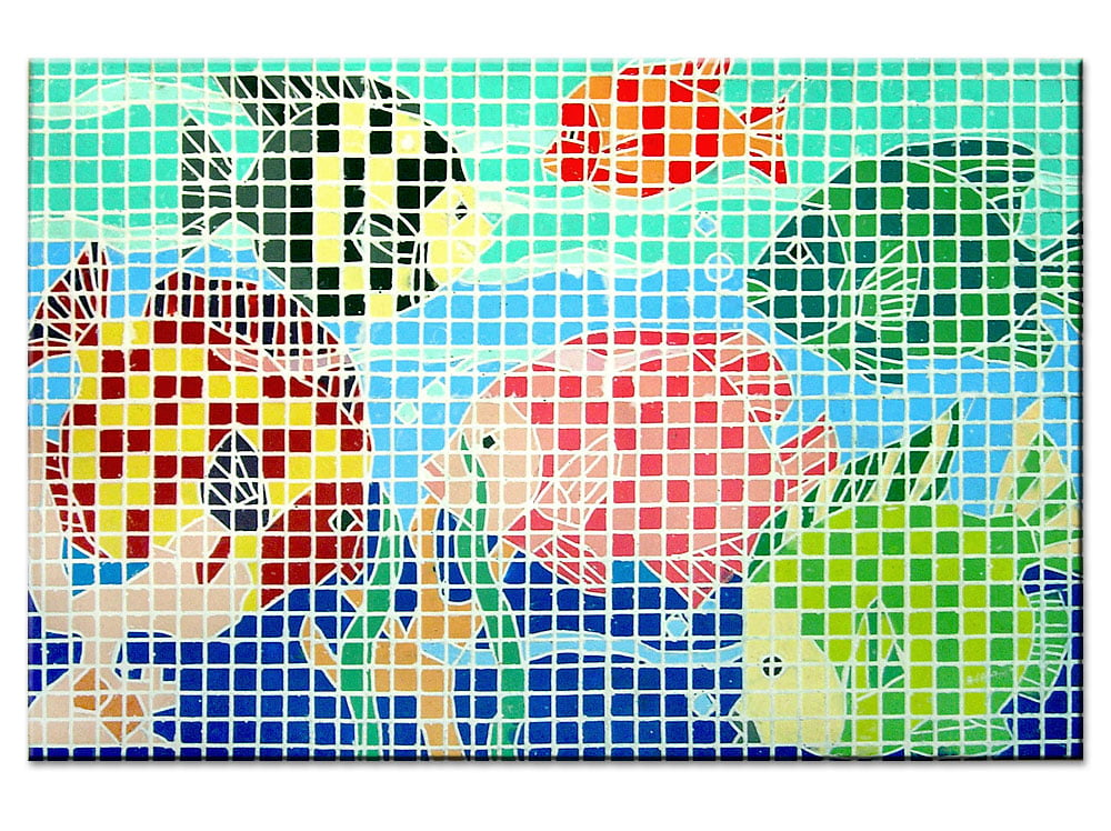 Mosaico Peixes - quadro decorativo