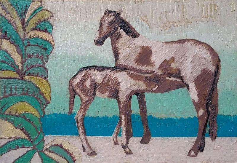 Pintura em resina - Amamentando - Alberto Farah - Quadro decorativo