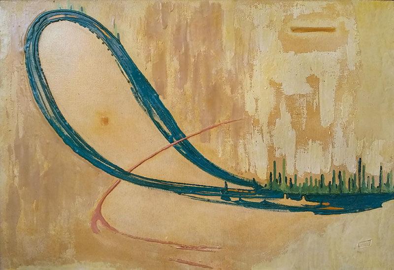 Pintura em resina - Volta às Origens - Alberto Farah - Quadro decorativo