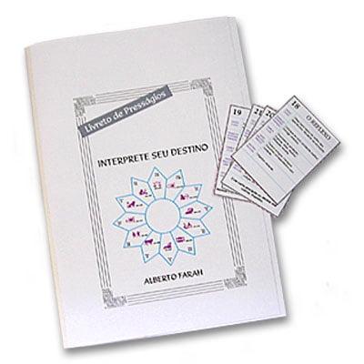 Jogo de Cartas da Sorte - Interprete seu Destino - tabuleiro, cartas e manual