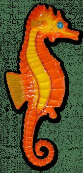 Cavalo Marinho - escultura em fibra de vidro - de parede