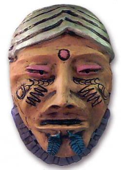 Máscara decorativa - O Pajé