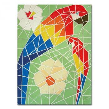 Mosaico Araras - quadro decorativo
