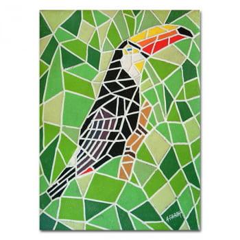 Mosaico Tucano - quadro decorativo