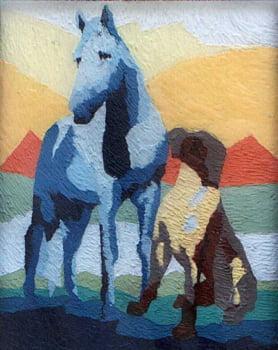 Pintura em resina - Amizade - Alberto Farah - Quadro decorativo