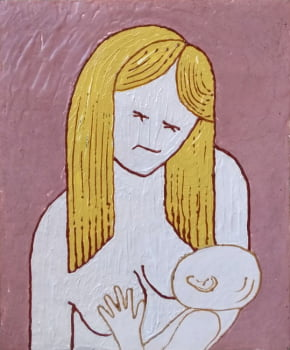 Pintura em resina - Maternal - Alberto Farah - Quadro decorativo
