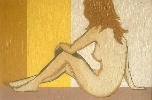 Pintura em resina - Nu posando - Alberto Farah - Quadro decorativo
