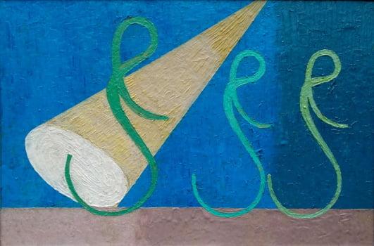 Pintura em resina - O palco - Alberto Farah - Quadro decorativo
