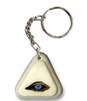 Chaveiro Kakomati - olho grego - em resina
